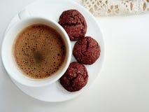 Aimez ces biscuits de chocolat, plis Photo stock