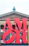 Aimez dans le ciel, amor près d'Art Museum à Philadelphie Photos libres de droits