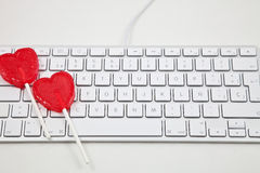 Aimez en ligne Photos libres de droits