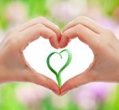 Aimez et protégez la nature et la durée Images libres de droits