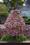 Aimez l'arbre de serrures à Séoul, Corée du Sud Photo stock