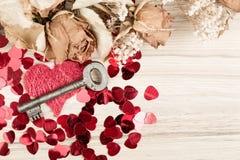 Aimez la clé à mon coeur, symbole de l'amour Image libre de droits