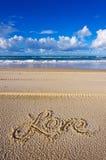 Aimez la plage Images stock
