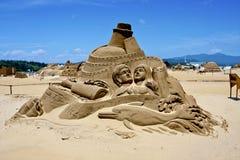 Aimez la sculpture en sable Images stock