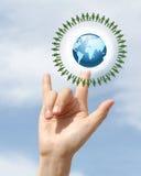 Aimez la terre Images libres de droits