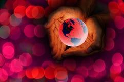 Aimez le concept de la terre Image libre de droits