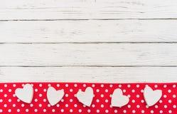 Aimez le fond de frontière de coeurs pour la carte ou le mariage de jour de valentines Photographie stock