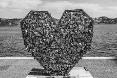 Aimez le monument chez le Tage Riverwalk à Lisbonne - à LISBONNE/au PORTUGAL - 14 juin 2017 Photo stock