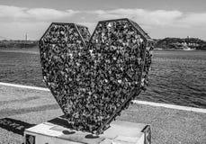 Aimez le monument chez le Tage Riverwalk à Lisbonne - à LISBONNE/au PORTUGAL - 14 juin 2017 Image stock