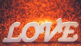 Aimez le mot en bois avec l'espace pour votre texte Image libre de droits