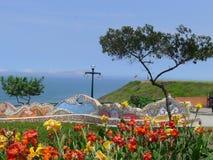 Aimez le parc dans le secteur touristique de Miraflores de Lima Photos stock