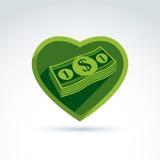 Aimez le succès d'argent, avidité, créditant et déposant, richesse et illustration stock