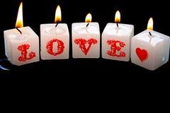 Aimez les bougies Photographie stock libre de droits