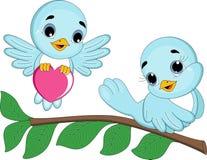 Aimez les couples d'oiseau illustration de vecteur