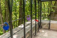 Aimez les serrures en parc de Tsaritsyno à Moscou - 1 Photos stock