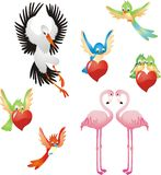 Aimez-moi - collection d'oiseaux Image libre de droits