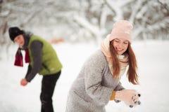 Aimez-moi en hiver Photos stock