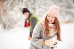 Aimez-moi en hiver Images libres de droits