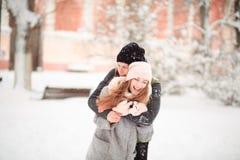 Aimez-moi en hiver Photographie stock
