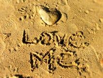 Aimez-moi sur la plage Photographie stock