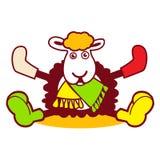 Aimez un logo de moutons Illustration de Vecteur