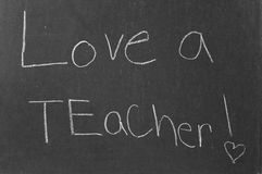 Aimez un professeur ! Image stock