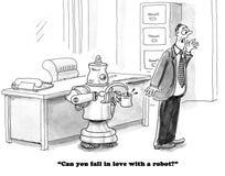 Aimez un robot illustration libre de droits