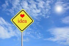 Aimez votre idée Photo libre de droits
