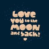 Aimez-vous à la lune et au dos Photographie stock libre de droits