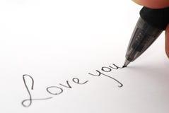 Aimez-vous côté écrit de vue Image stock