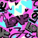 Aimez-vous copie de jour du ` s de Valentine, le métier sans couture I expressif de main illustration de vecteur