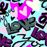 Aimez-vous copie de jour du ` s de Valentine, le métier sans couture I expressif de main illustration stock