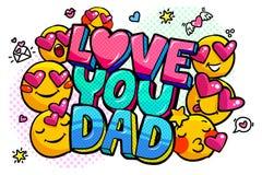 Aimez-vous message de papa dans la bulle saine de la parole illustration libre de droits
