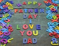 Aimez-vous papa, fête des pères heureuse Photos libres de droits