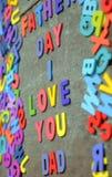 Aimez-vous papa, fête des pères heureuse Photographie stock libre de droits