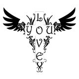 Aimez-vous tatouage Images libres de droits