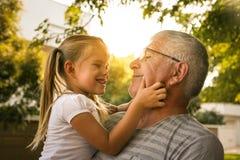 Aimez-vous tellement mon grand-papa Photographie stock libre de droits