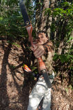Aiming archer Stock Photos