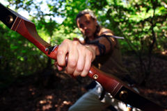 Aiming archer Royalty Free Stock Images