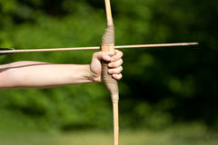 Aiming archers Royalty Free Stock Images