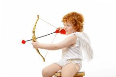 Aiming baby stock photography