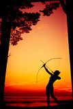Aiming at goal archer royalty free stock photo