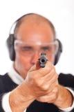 Aiming a Gun Stock Image
