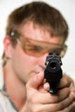 Aiming gunman Royalty Free Stock Photo