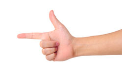 Aiming hand sign Royalty Free Stock Photo