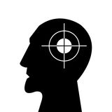 Aiming at the head Royalty Free Stock Photography