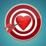 Aiming at heart Stock Images