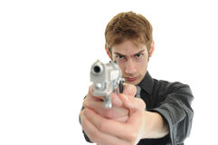 Aiming pistol handgun Royalty Free Stock Image