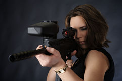 Aiming for shooting Royalty Free Stock Image