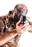 Aiming Soldier Royalty Free Stock Images